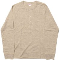 DOUBLE DIAMOND TWIST YARN HENLEY SHIRT