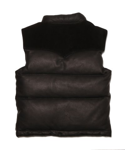 画像2: DOWN VEST / DEERSKIN (BLACK)