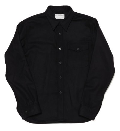 画像1: C.P.O. SHIRT (BLUE FLANNEL SHIRT)
