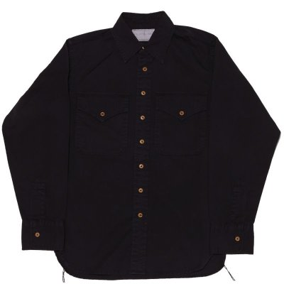 画像1: KHAKI SHIRT DYED BLACK