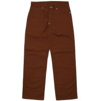 8HU BROWN CANVAS WAIST OVERALLS