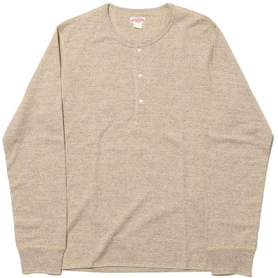 画像1: DOUBLE DIAMOND TWIST YARN HENLEY SHIRT