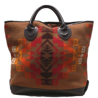 画像1: NATIVE WOOL BLANKET TOTE BAG