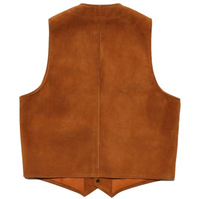 画像3: ROUGHOUT LEATHER VEST