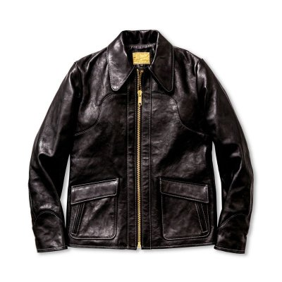 画像1: 70's LEATHER JACKET / DEAD WOOD
