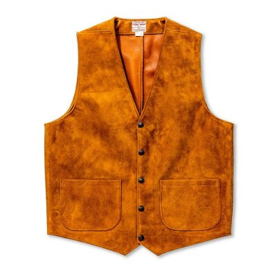 画像2: ROUGHOUT LEATHER VEST