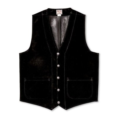 画像1: ROUGHOUT LEATHER VEST