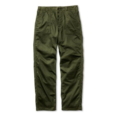 画像1: TROUSERS, MEN'S COTTON SATEEN