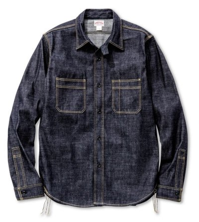 画像1: 8HU DENIM SERVICEMAN SHIRT