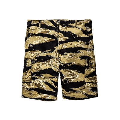 画像1: TIGER CAMOUFLAGE SHORTS / GOLD TONE